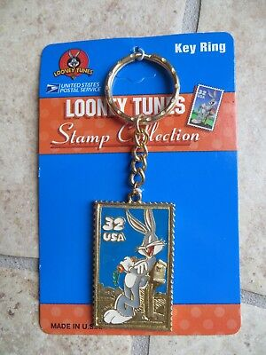 Bugs Bunny Looney Tunes USPS Stamp Collection 1997 Keychain NEW