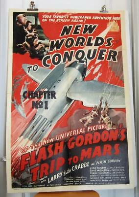 1938 FLASH GORDON'S TRIP TO MARS  Ch 1 One-Sheet BUSTER CRABBE CHARLES MIDDLETON