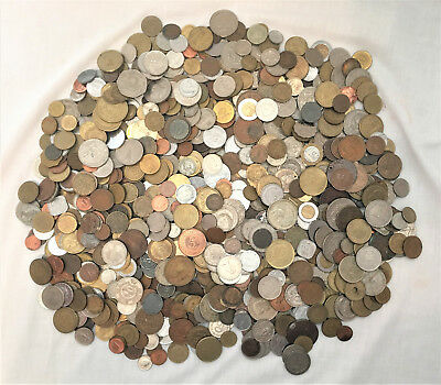 Lot 10+ lbs. of Foreign Coins Some Pre-1900 Nice Selection