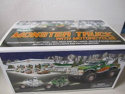 Hess Truck Toy Monster Truck with Motorcycles 2007
