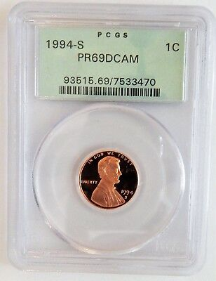 1994 S  Proof Lincoln Cent PCGS  PR69DCAM OGH (No.5)