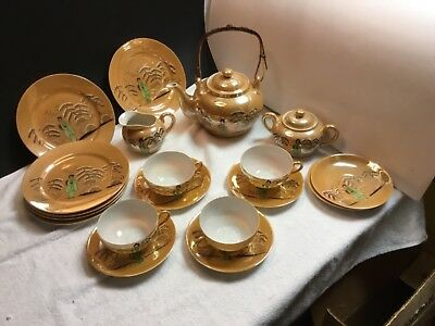 Vintage Lithophane Tea Set