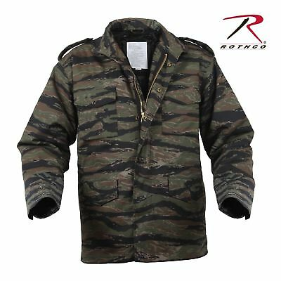 Rothco 8713 Tiger Stripe Camo Mens M65 Field Jacket With Quilted Liner Size S-3X