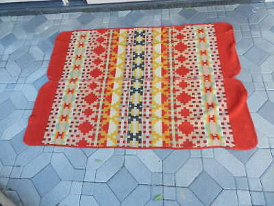 "Outstanding Rare Antique Pendleton Blanket With Rounded Corners, 45""x65"""