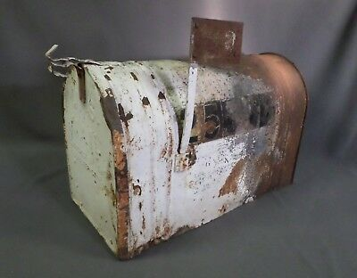 """Vintage RFD 24"""" MAILBOX Large Farm country rural route galvanized steel antique"""
