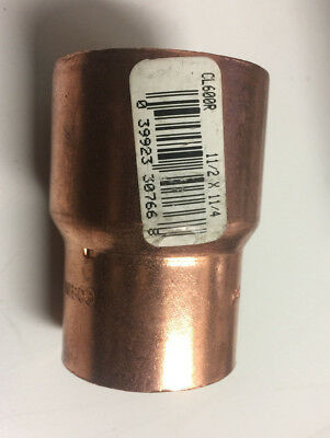 "NIBCO CL600R CxC 1-1/2"" x 1-1/4"" REDUCER WROT COPPER SLIP COUPLING FREE SHIP"