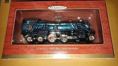Hallmark Keepsake Lionel 1-400E Blue Comet Locomotive Blown Glass Ornament