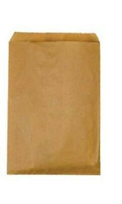 """100 Small Natural Kraft Flat Paper Merchandise Bags 6¼"""" x 9¼"""" Sales Party Treat"""