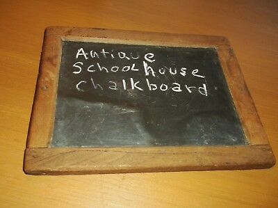 Antique (circa 1860) Child's Schoolhouse Personal Slate Chalkboard (pegged)