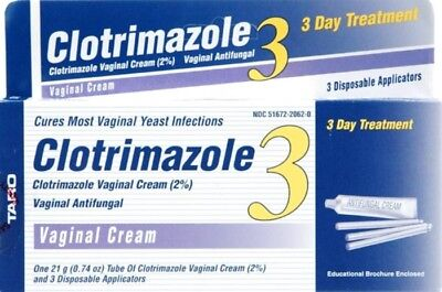 Taro Clotrimazole 3 Day Vaginal Cream 0.74 oz