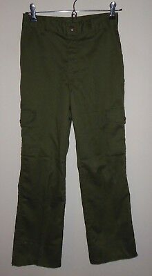 official BOY SCOUTS uniform cargo PANTS youth SIZE 12 waist 26 green fast ship