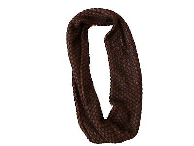 J. Crew navy and cognac infinity scarf, patterned