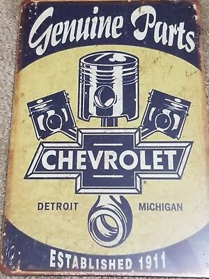 Ford Motor Company Genuine Parts Establised 1911 Tin Sign Vintage/Retro Style