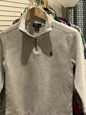 Pre-owned Polo Ralph Lauren Boys Cotton Sweater -Gray - Size S(8)