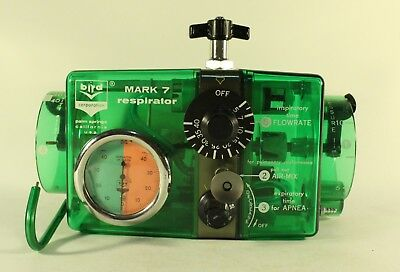 Bird Mark 7 Respirator CareFusion Pneumatic IPPB Therapy Air Oxygen Ventilator