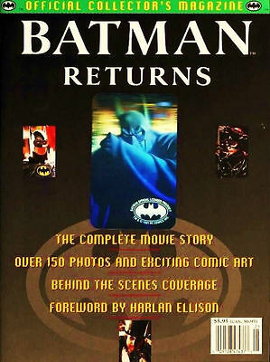 Batman Returns Official Collector's Magazine W/hologram -1992