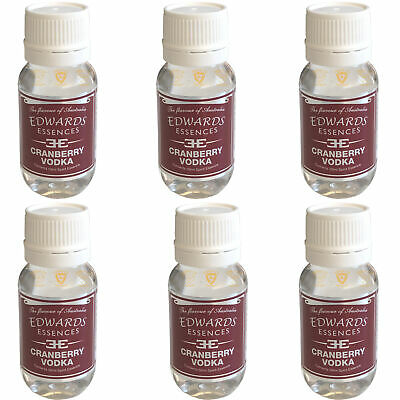 6 x Edwards Cranberry Vodka Spirits Flavour Essence 50ml Home Brew