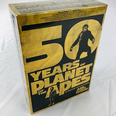 50 Years Planet of the Apes 9 Movie Collection (Blu-ray, 4K UltraHD) NO Digital