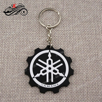 For YAMAHA Keyring Keychain White Rubber Motorcycle Racing Collectible Gift