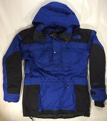 Vintage THE NORTH FACE Mens GORETEX Jacket Pullover Cold Weather Blue Size Med