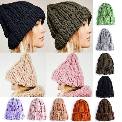 1 PCS Fashion Womens Winter Warm Beanie Knitted Crochet Hat Handmade Girl Gifts
