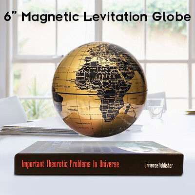 6'' Levitation Magnetic Rotate Globe Floating Levitating Earth Map Desk Decor AU