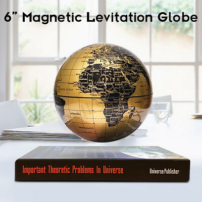 6'' Magnetic Levitation Rotate Globe Levitating Floating Earth Map Desk Decor AU