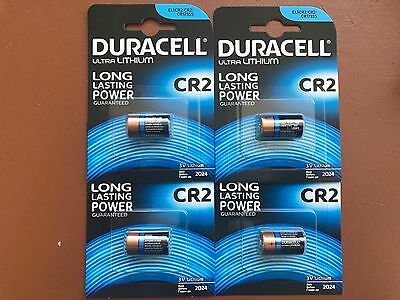 4 x Nuovo Duracell CR2 3V Ultra Lithium Photo Videocamera Batterie DLCR2/ELCR2