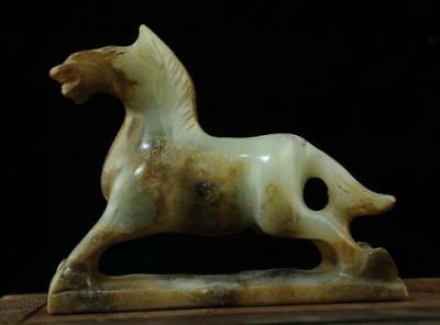Chinese natural jade hand-carved zoology horse statue 1 c01