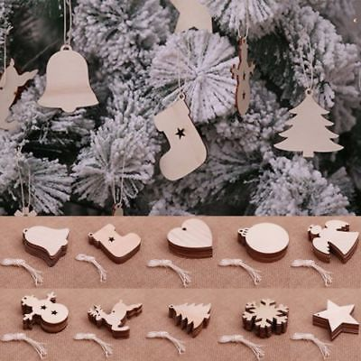 Gift Wooden Fashion Tree Gift Perfect Craft Shapes Blank Hanging Decorations