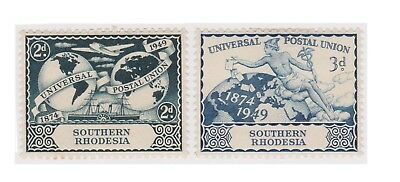 (K129-69) 1949 South Rhodesia set of 2 UPU stamps (BR)