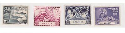(K129-28) 1949 Gambia set of 4 UPU Stamps (AC)