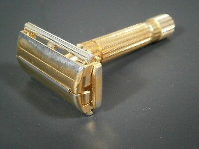 Gillette Aristocrat, gold plated, no code