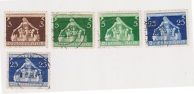 (GE-96) 1936 Germany mix of 5 local government stamps 5pf to 25pf (CT)