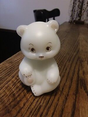 1980 fenton glass bear hand-painted super rare shiny one very hard to find