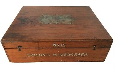 Antique Slate, A. B. Dick Co. Thomas Edison Mimeograph Model No. 12, Patent 1890