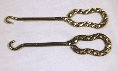 """2 Antique Shoe Button Hook Tools One is """"WALK OVER SHOES FOR MEN & WOMEN"""""""