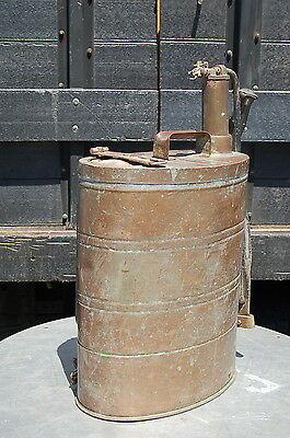 Vintage Copper Brass FMC BACKPACK SPRAYER Plant Insectacide Lawn Bug 1940's/50's