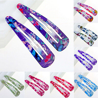 10pcs Multicolour Hair Snap Clips Claws Girls Women's Hair Accessories Wholesale