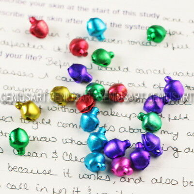 500 Mixed Christmas Jingle Bells Charms Bracelet Necklace Findings Ornament