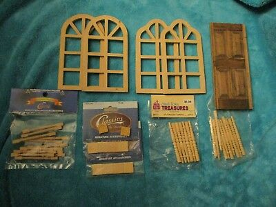 LG LOT Houseworks Wooden Dollhouse 1:12 Door Window Frames Spindles Trim Decor