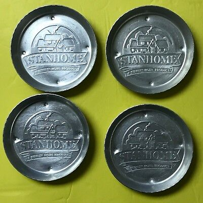 Aluminum Table Coasters STANHOME Set of 4 Round Very Old