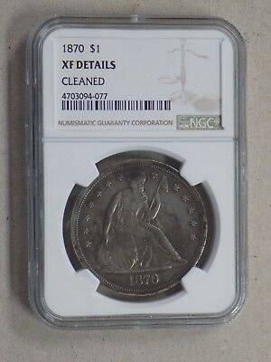 1870 $1 Seated Liberty Dollar Ngc Xf Details