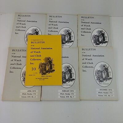 rb Lot of 7 Bulletin National Association Watch & Clock Collectors 1975 Books #1