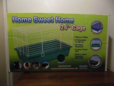 NEW Home Sweet Home Ware Manufacturing 24 Inch Plastic Small Pet Cage Green NIB