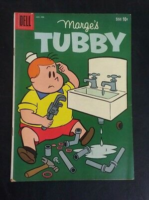 Marge's Tubby #38 Dell 10 cent cover January 1960 Silver Age VG+ Good Color!