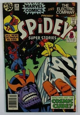 Spidey Super Stories # 39 1978 Marvel Thanos Cosmic Cube