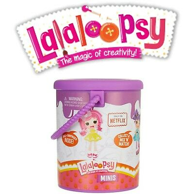 Series 2 Lalaloopsy Minis Purple Mystery doll surprises Paint Cans Lot of 5