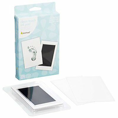 """Pearhead Newborn Baby Handprint or Footprint """"Clean-Touch"""" Ink Pad, 2 Uses,"""
