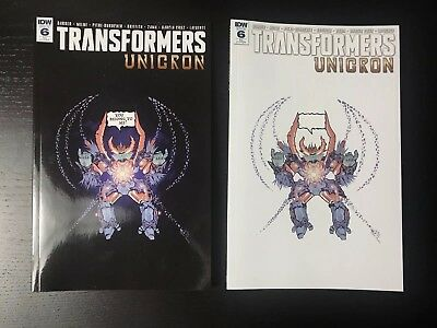 2x TRANSFORMERS UNICRON 6  Retailer Exclusive JPG McFly Cover Art A & B